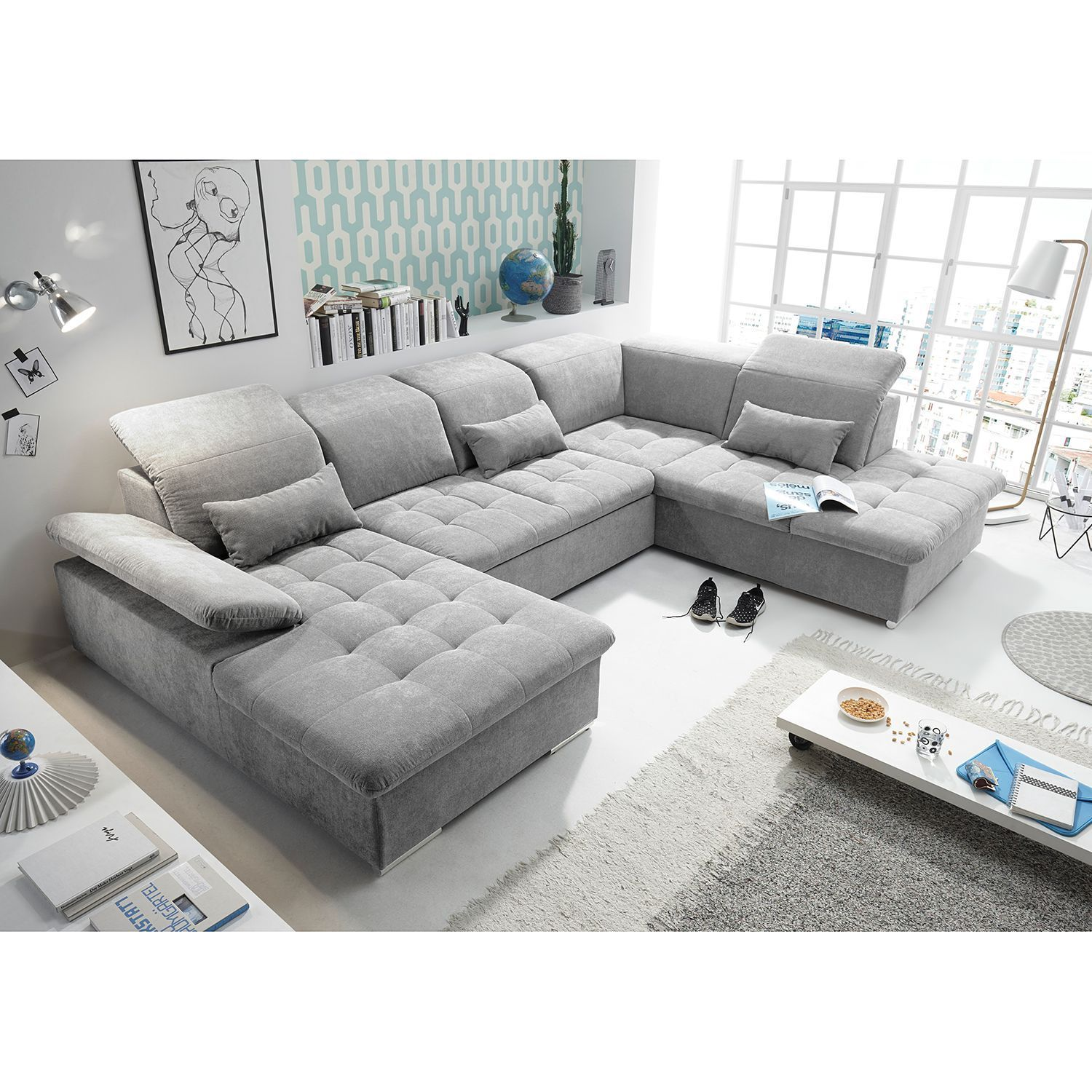 Wohnlandschaften Xxl Bigsofas In U Form Online Bestellen Neuedekoration Wohnlandschaft San Benito Big Sofas Furniture Living Room Entertainment
