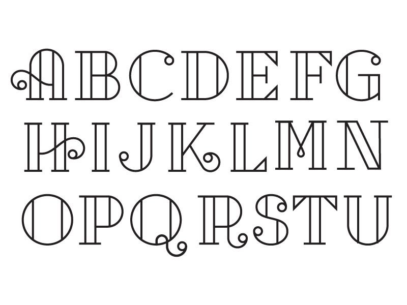 First Pass At A Cap Letter Set Mostly Created Just As An Fun Type Exercise