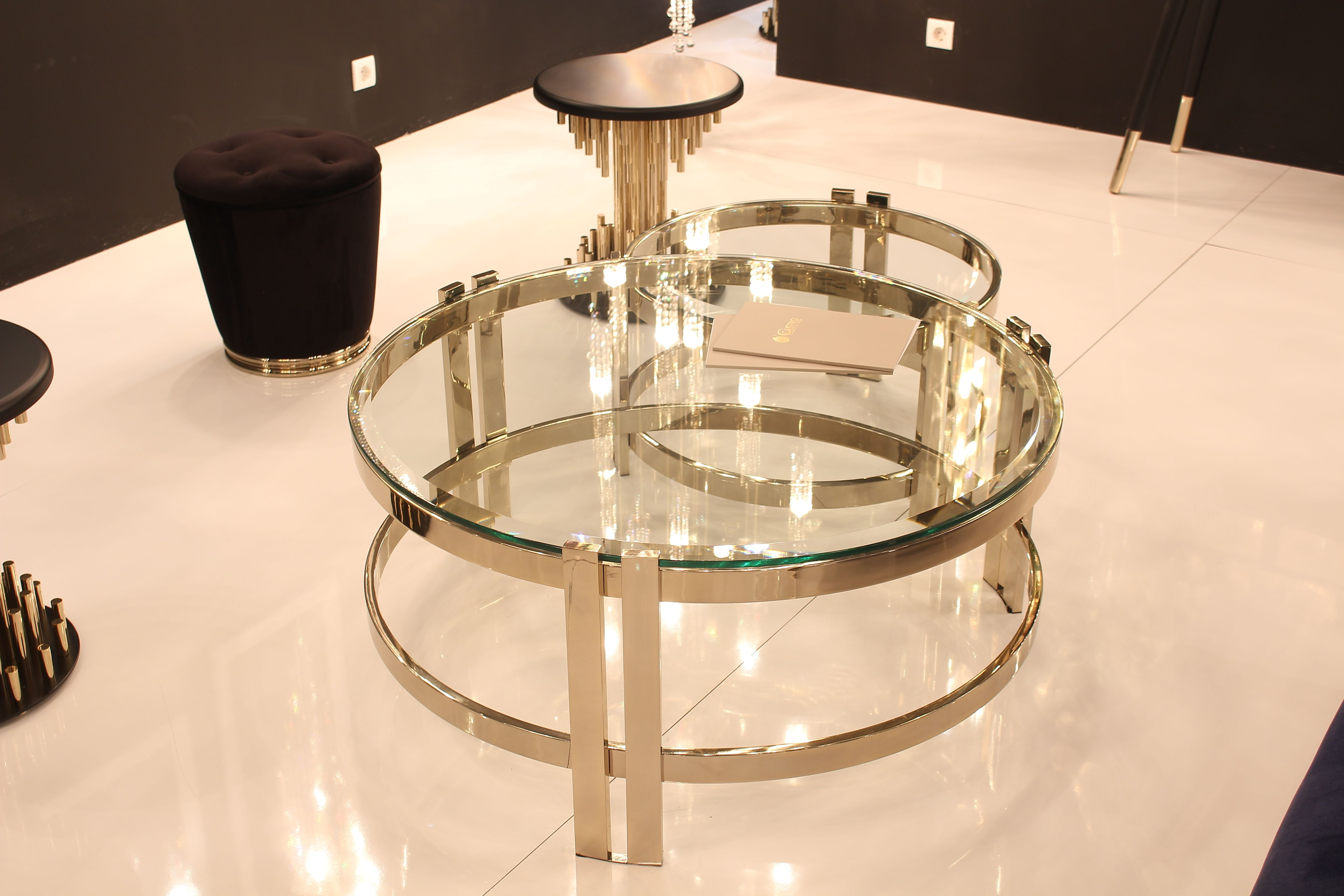 Decor Gold Luxury Fair Lighting Castro Lighting Lifestyle Black White Blue Fashion Mod Round Glass Coffee Table Brass Dining Table Metal Coffee Table [ 3456 x 5184 Pixel ]