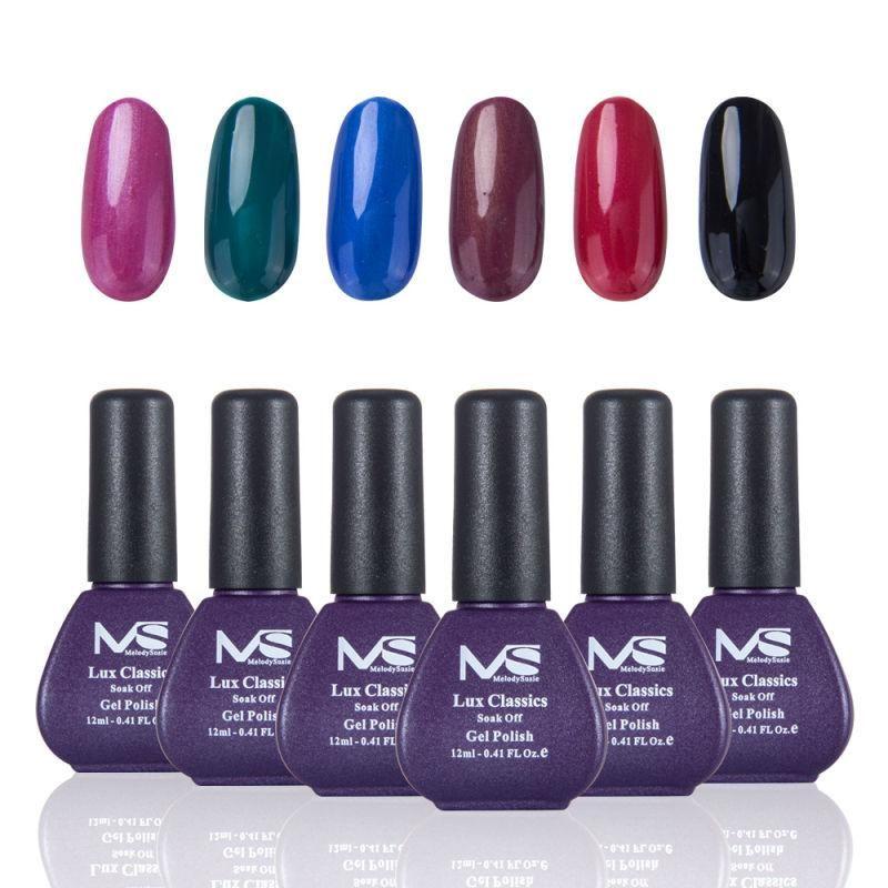 MelodySusie 6pcs/lot Mix Color Hot Sale Gel Nail Polish Vegan ...