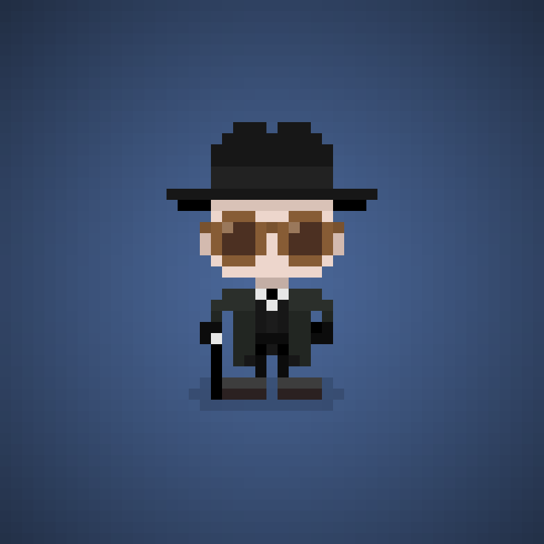 Famous Characters In Pixel Art Judge Doom From Who Framed