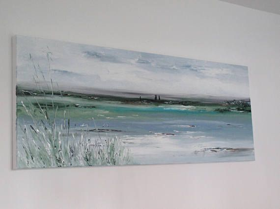 Original Landscape Large Abstract Modern Textured Acrylic Palette