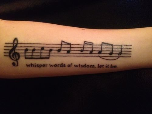 Whisper Words Of Wisdom Let It Be Music Tattoo Sleeves Sheet