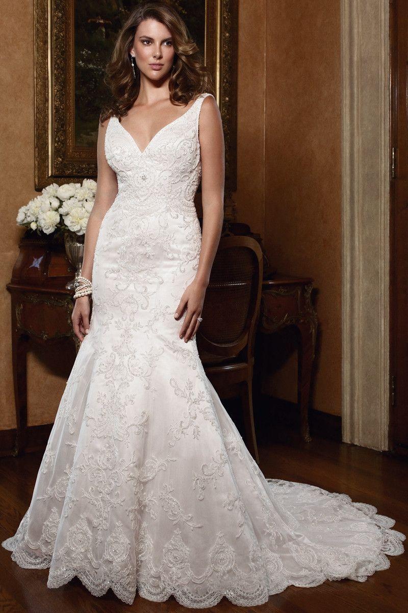 Casablanca bridal wedding dress style tank style strapped