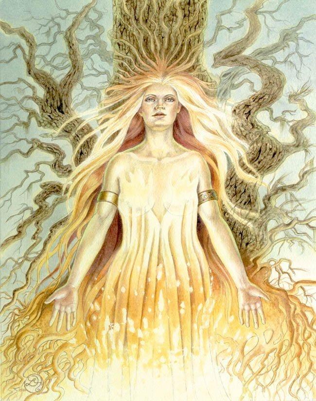Image result for Brigid, the fire-clad goddess