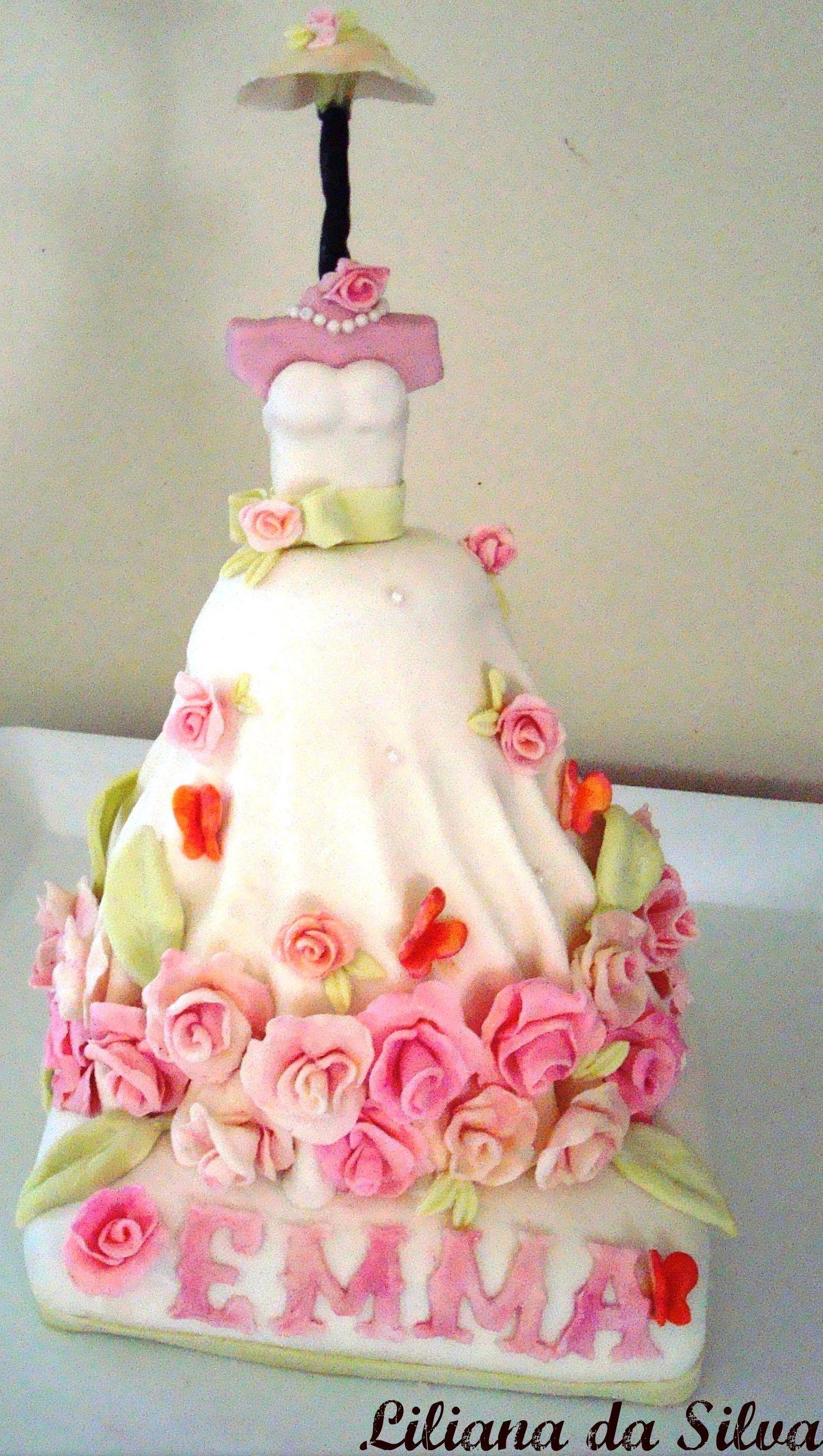Fondant Cake Decorating - Making a doll cake | Decorating ...