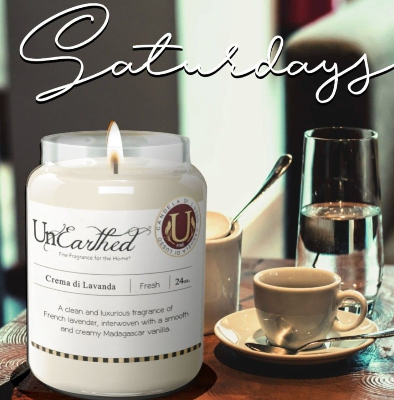 Saturdays are meant to be fragrant. Post a pic of your favorite UnEarthed amosphere-setting candle on Facebook… (With images) | Scented candles luxury, Luxury candles, Candles
