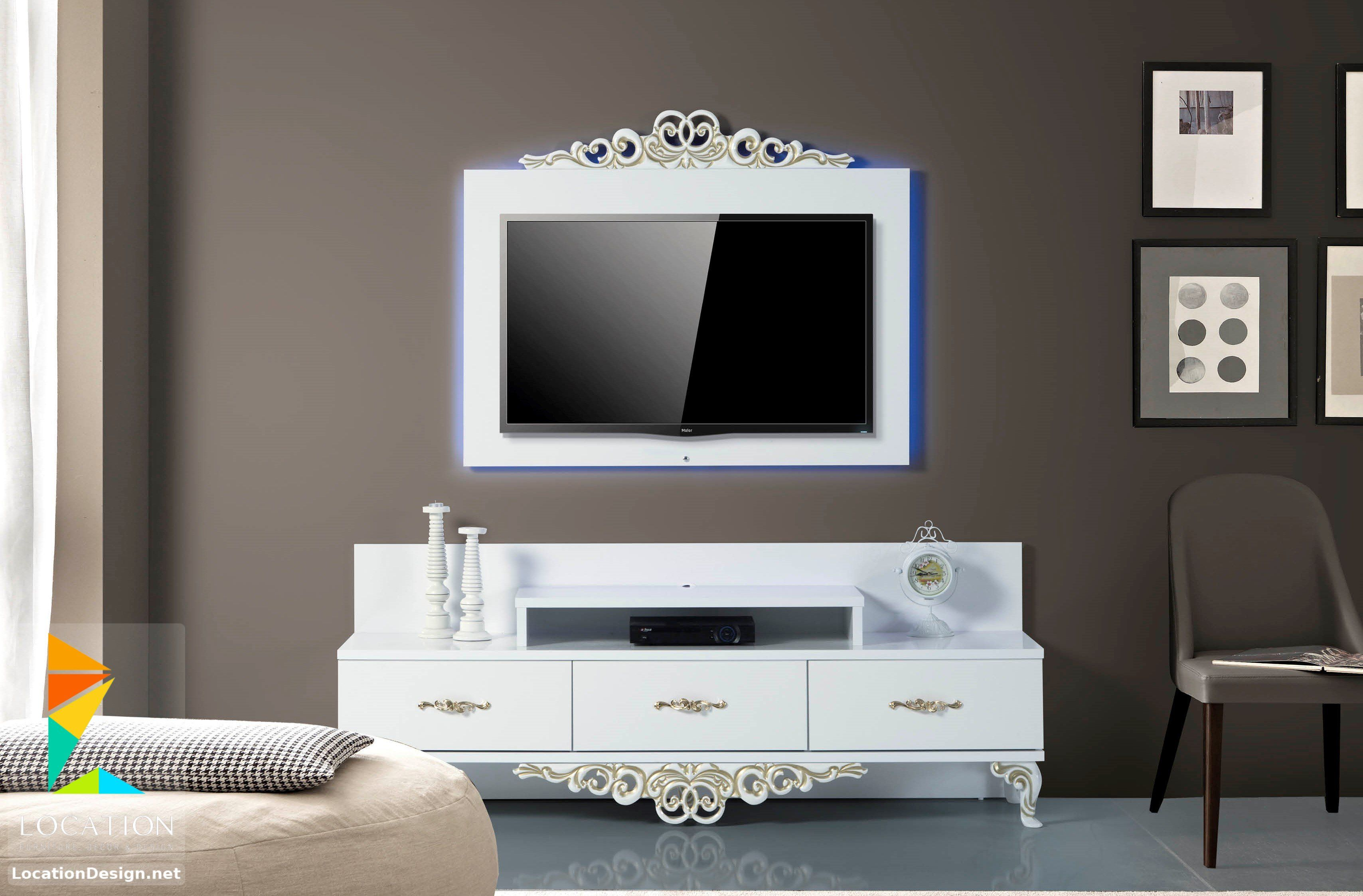 رفوف خشبية للتلفاز مكتبات شاشات Lcd مودرن Tv Unit Design Design Home Decor
