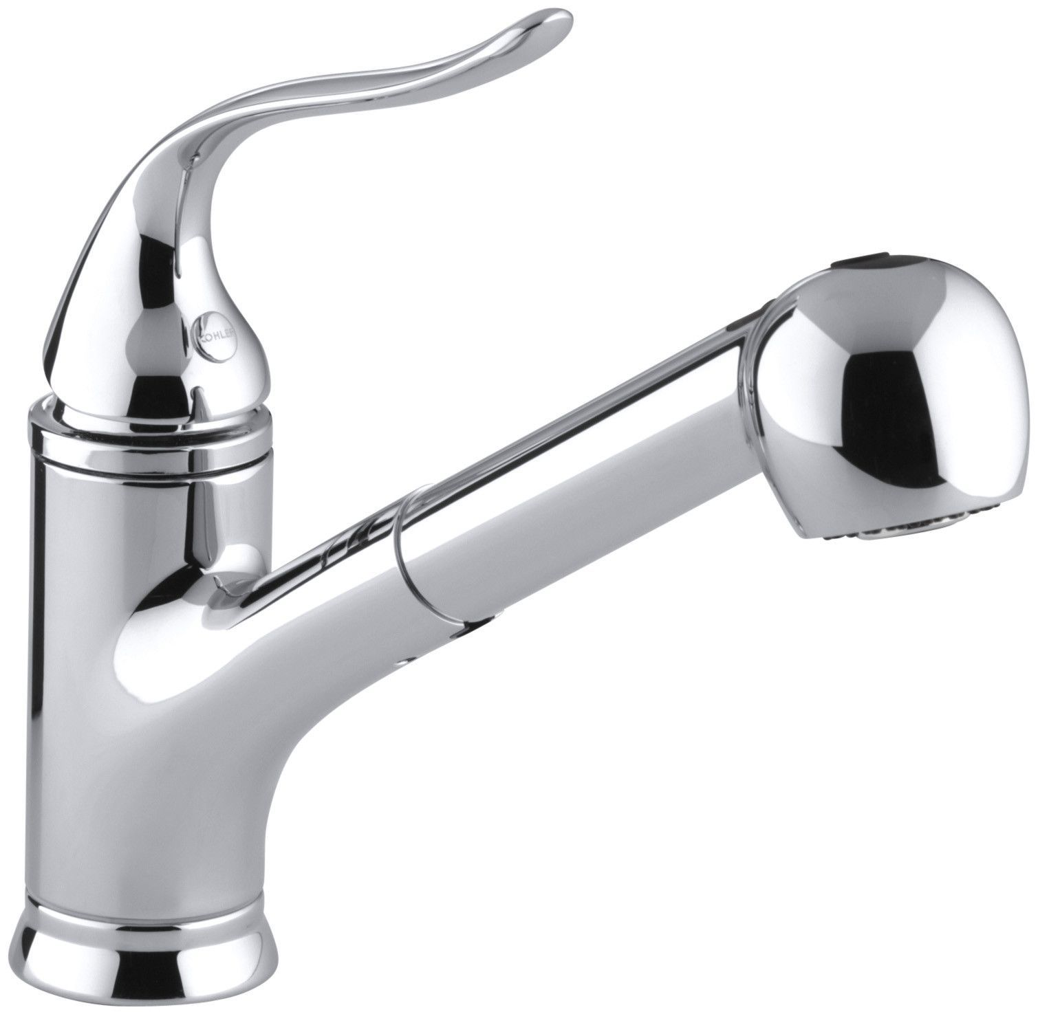 Coralais Pullout Single Handle Kitchen Faucet With Masterclean