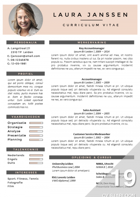 cv template word nederlands