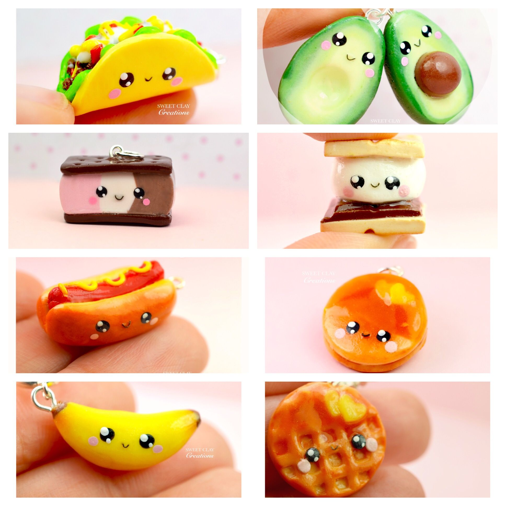Mini Food Kawaii Charms Miniature Food Jewelry Polymer Clay Jewelry