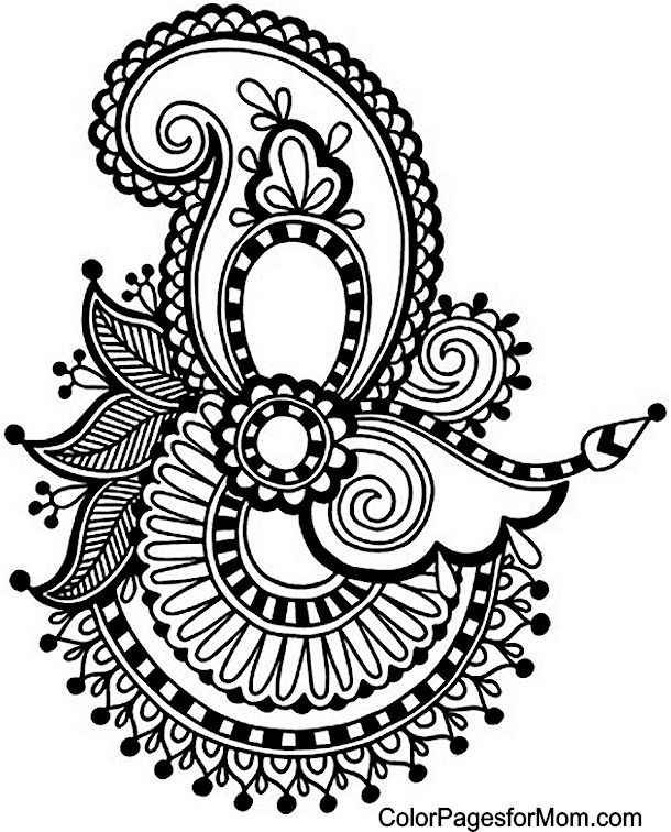 black and white decor paisley coloring page 31 paisley draw color 30132
