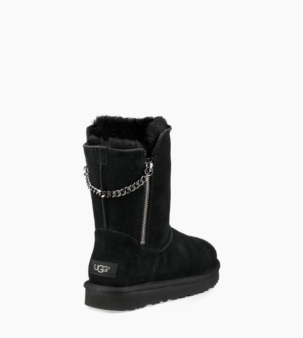 1b376722a59 Classic Short Sparkle Zip Boot - Image 6 of 8 Sheepskin Boots