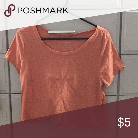 bd21c626 Coral colored tee shirt Coral colored tee shirt —with scalloped edging  ——mossimo by Target Mossimo Supply Co. Tops Tees - Short Sleeve