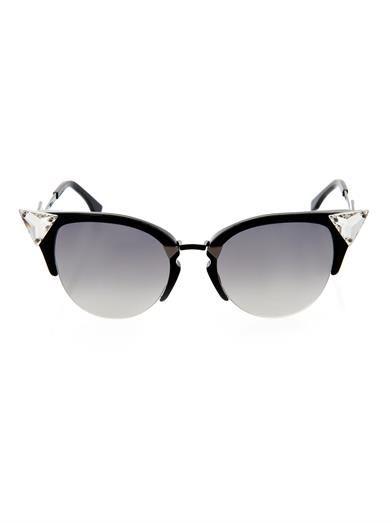 e95fc6d55938c Iridia crystal-embellished sunglasses
