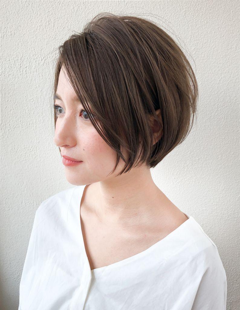ナチュラルなひし形小顔ショート Sh 22 ヘアカタログ 髪型