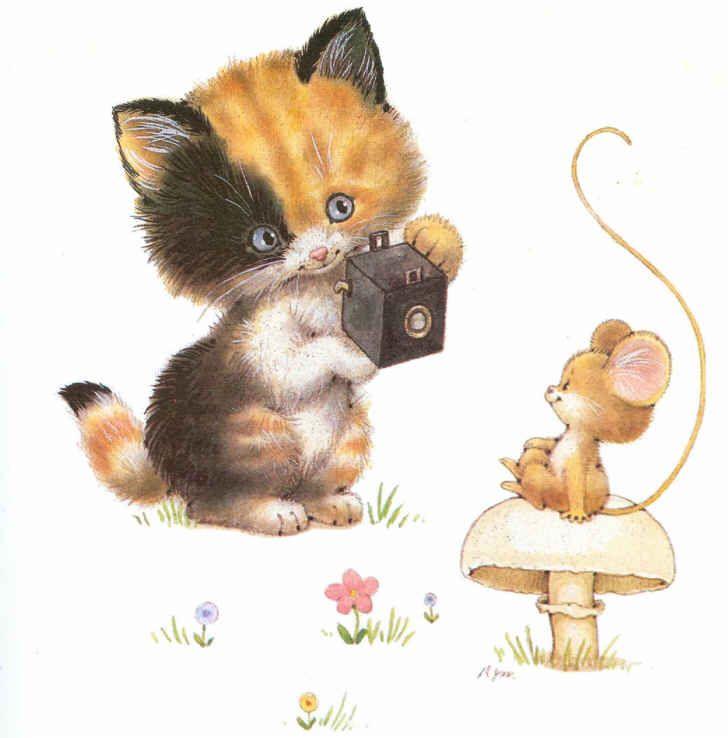 Gato Y Ratón Http Www Silvitablanco Com Ar Ruth Morehead Ruth Morehead Htm Cat Art Cat Art Illustration Cute Art