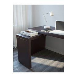 Malm Desk With Pull Out Panel Black Brown
