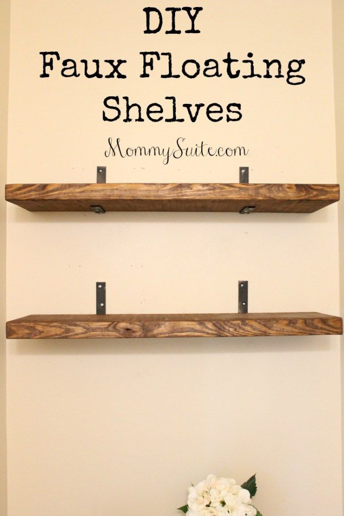 DIY Faux Floating Shelves | Small bathroom, Shelves and Characters
