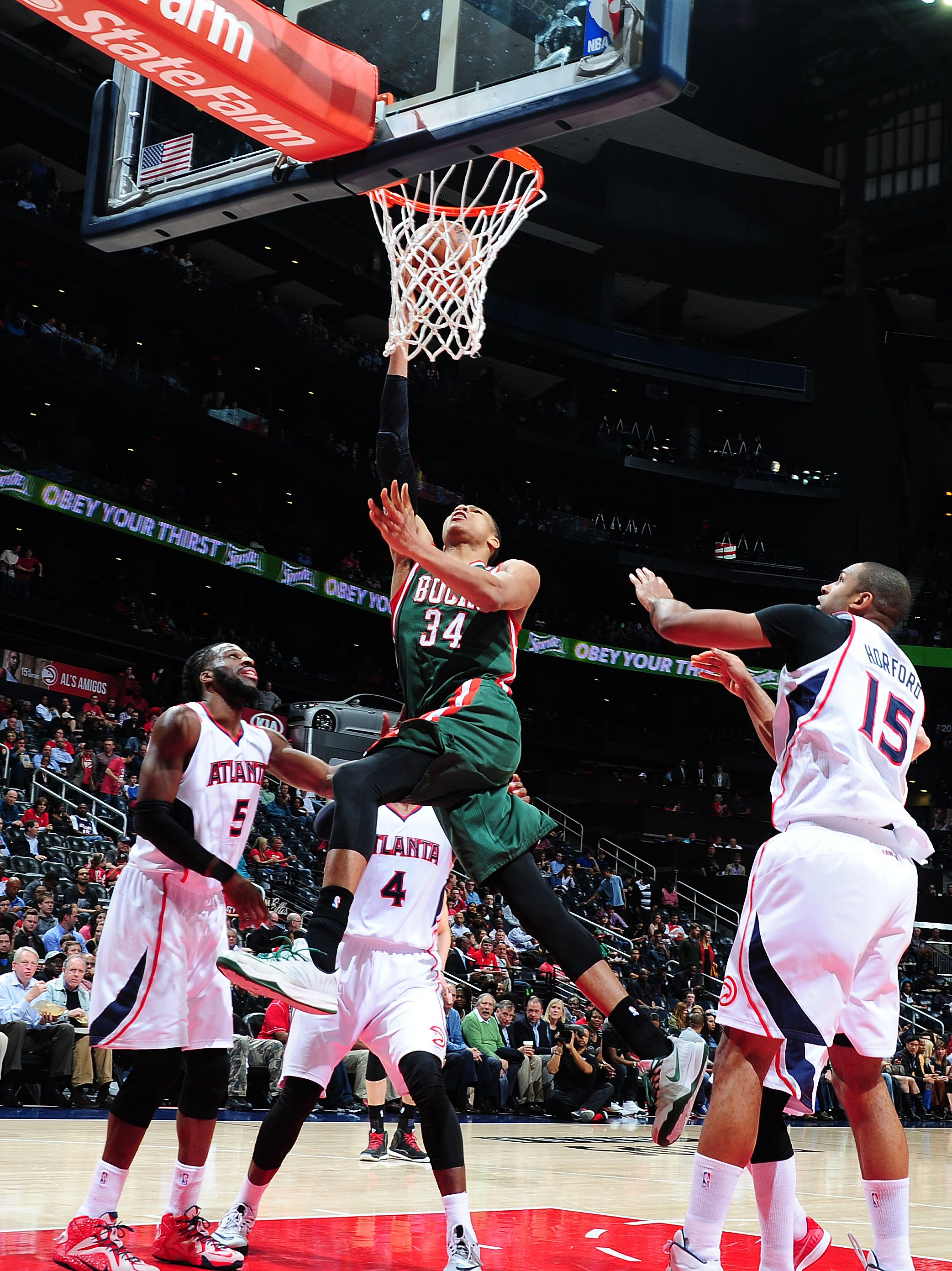 giannis antetokounmpo 34 and nate wolters of the milwaukee