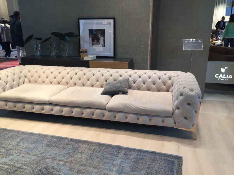 Calia Italia Gray Sofa Furniture Tufted Furniture Minimalist Sofa