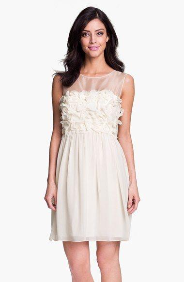 Donna Morgan Embellished Ruffle Chiffon Dress available at #Nordstrom