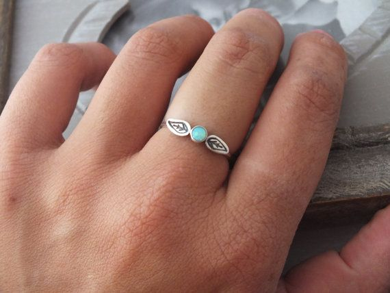 Sterling Silver Opal Ring Silver Leaf Ring by JewelleryByAvigail
