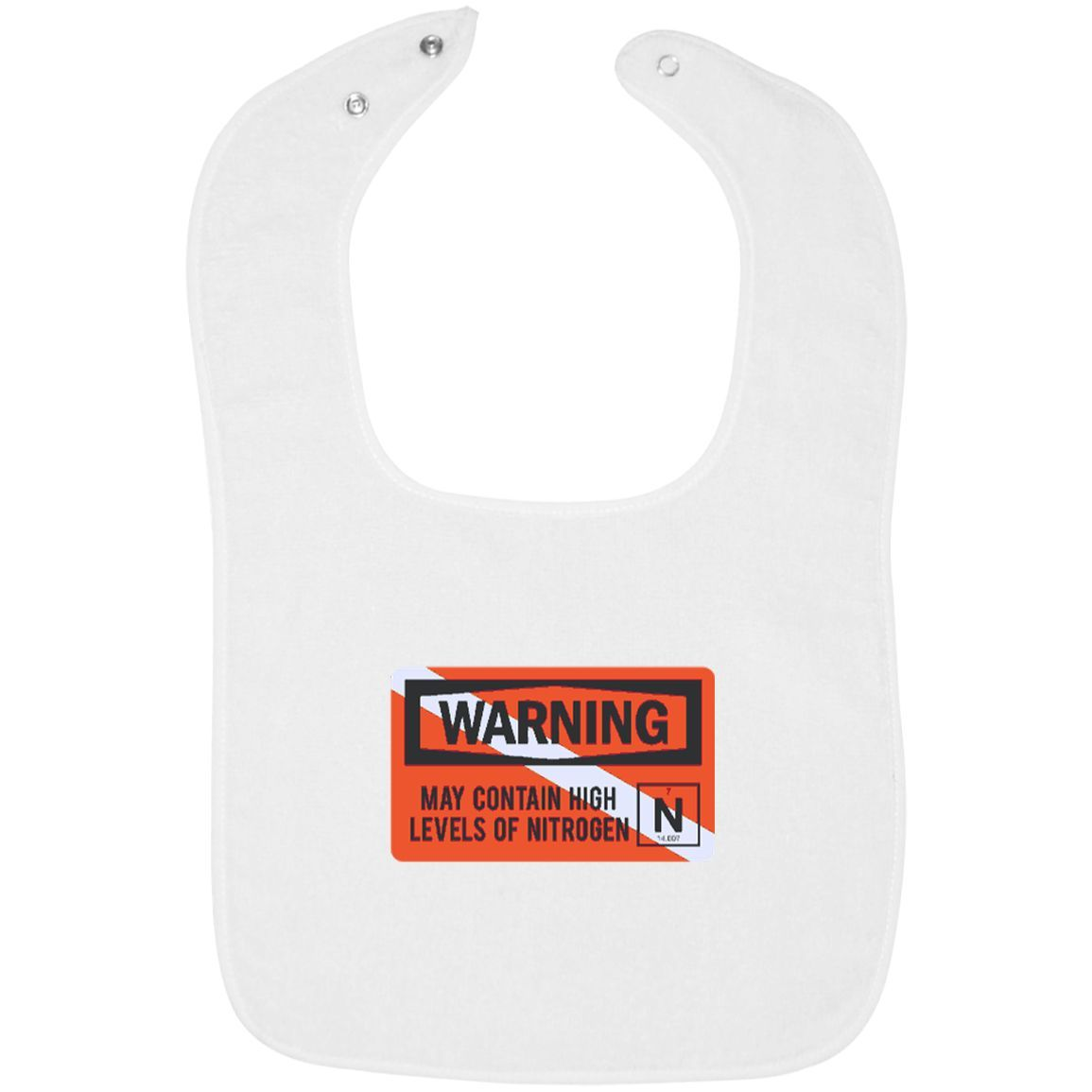 Infant terry snap bib products