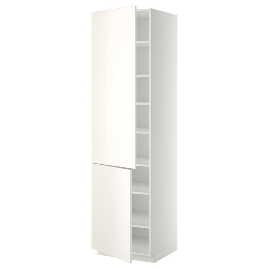Metod El Ht Tablette 2ptes Blanc Veddinge Blanc 60x60x220 Cm Ikea En 2020 Ikea Idees Etageres Blanc