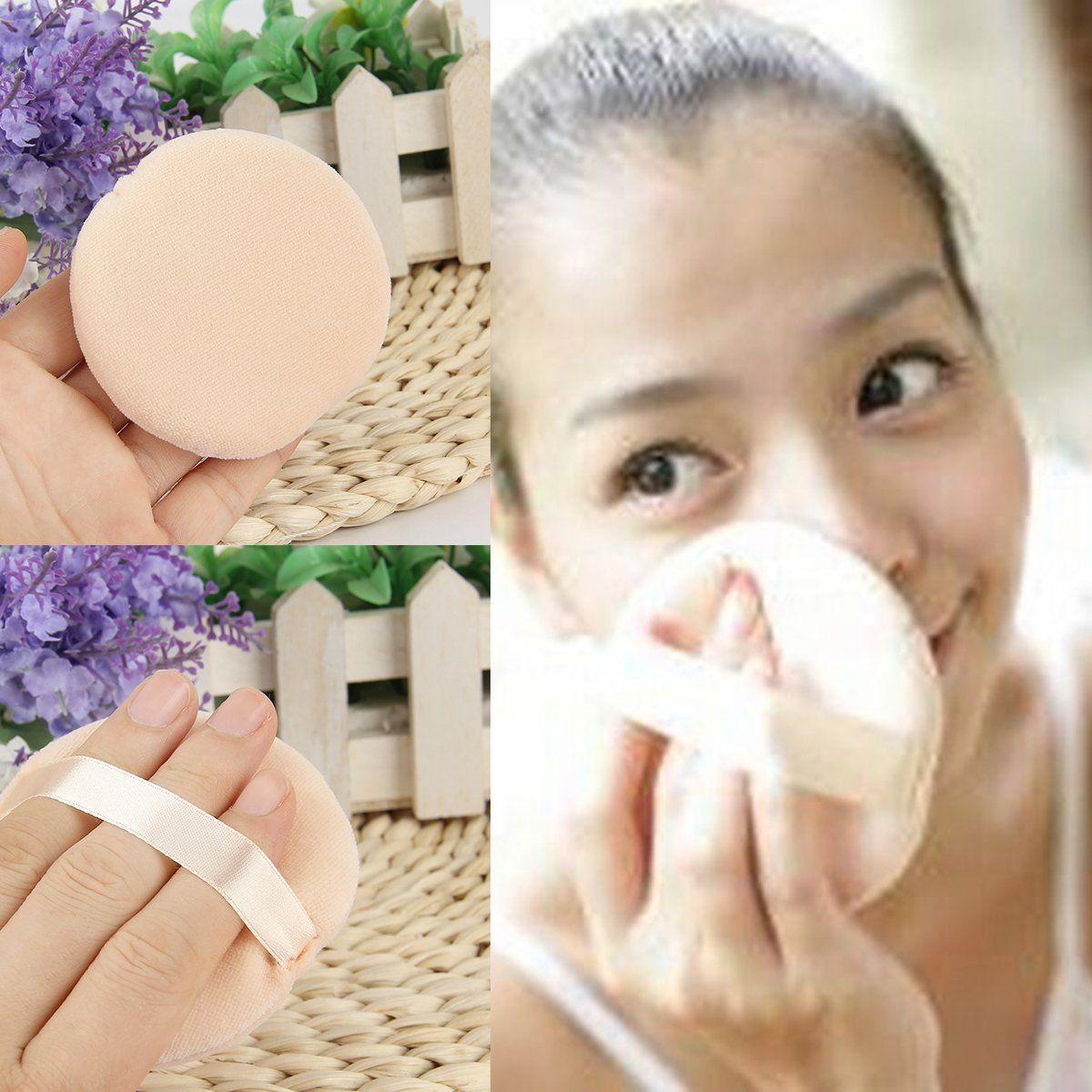 Details about 5x Makeup Facial Beauty Sponge Powder Puff