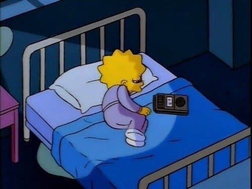 When she was listening to some sad, emotional music to vent out her feelings. 21 Times Lisa Simpson Was A Big Fucking Mood