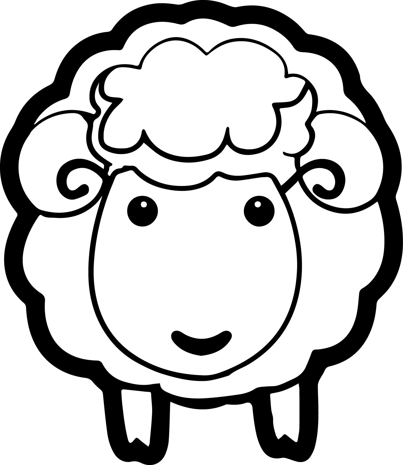 Sheep Coloring Page 06 Jpg Animal Coloring Pages Coloring Pages Sheep Outline