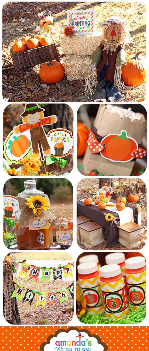 Pumpkin Patch Party Printable, Pumpkin Birthday, My Little Pumpkin, Fall Birthday, Pumpkin 1st Birthday | Amanda's Parties To Go