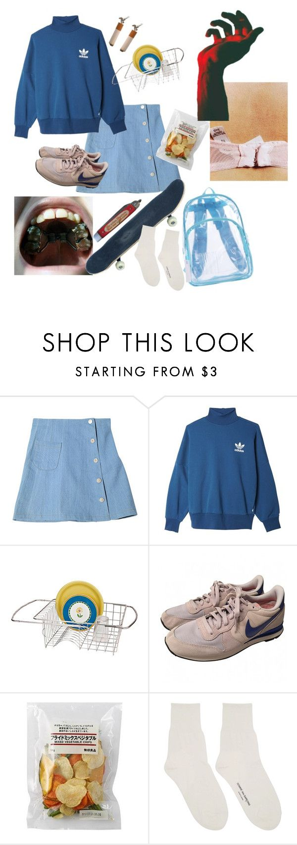 """""""кто-то"""" by vrshka ❤ liked on Polyvore featuring StyleNanda, adidas Originals, Improvements, NIKE and Comme des Garçons"""