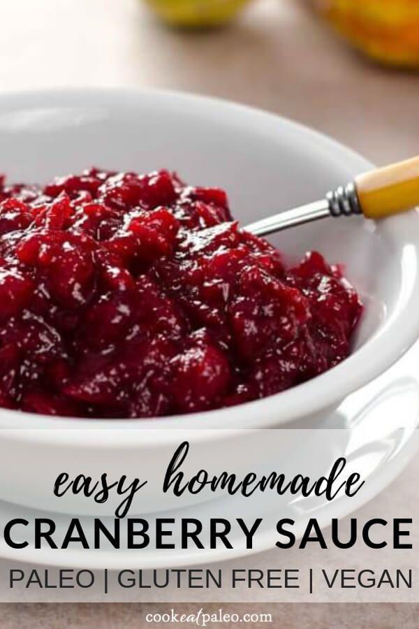 3-Ingredient Paleo Cranberry Sauce