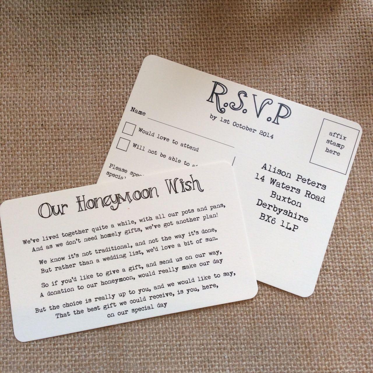 Wedding Gifts For Invitees: 1 Vintage Bunting /Shabby Chic Style Wedding Invitation