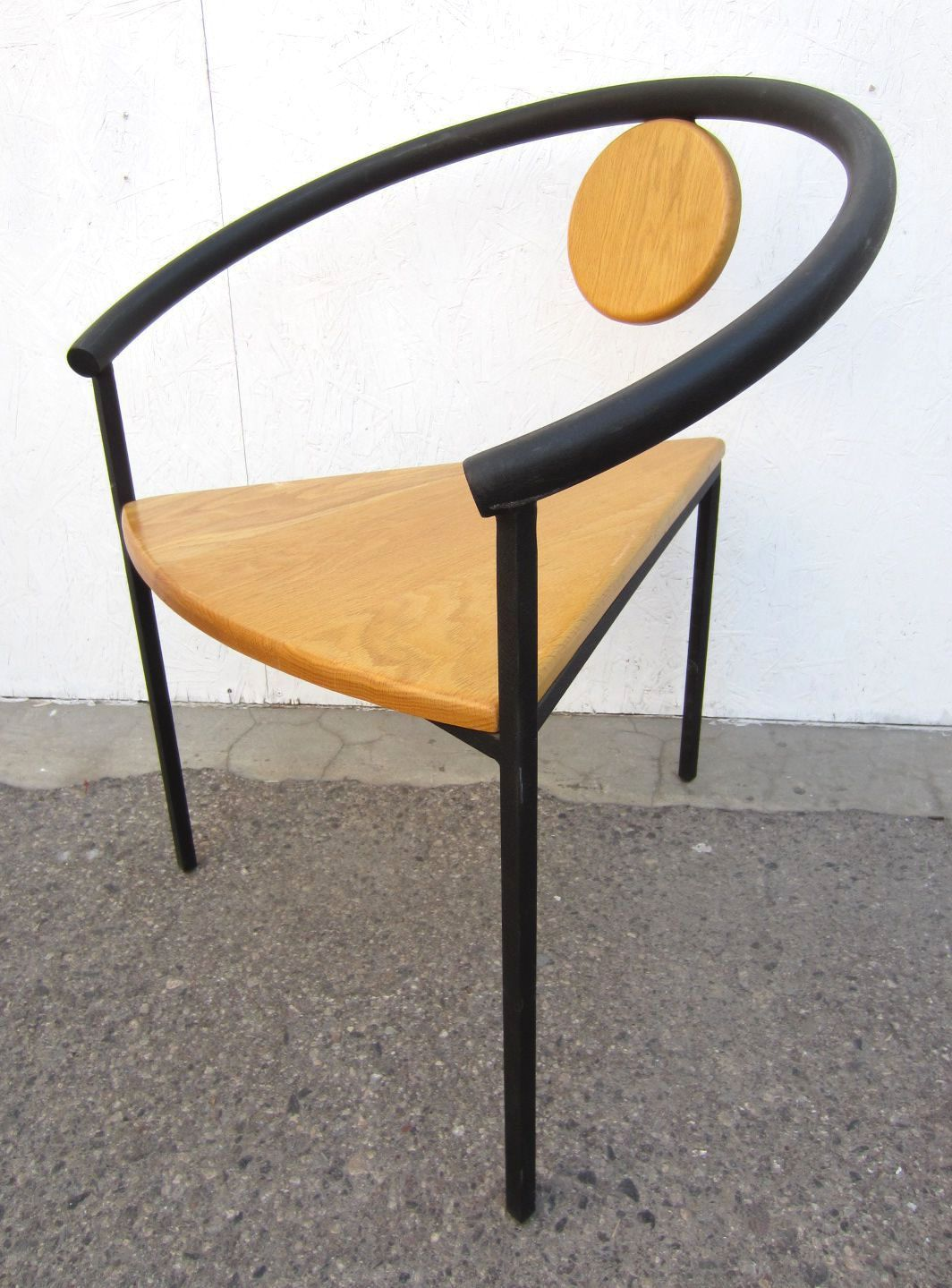 Six memphis post modern dining or arm chairs in the style of michele de lucchi 3