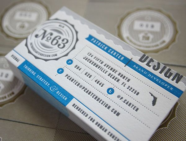 one sided business cards