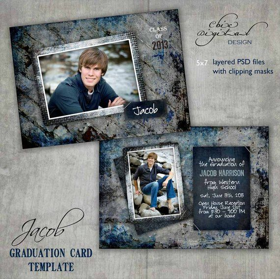 Graduation Announcement Card Template Open House Invitation For