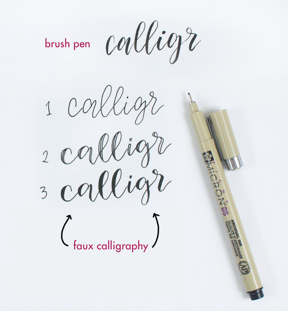 How to do faux calligraphy in 3 easy steps Fake
