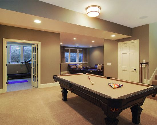 Small Simple Design Traditional Basement Small Basement