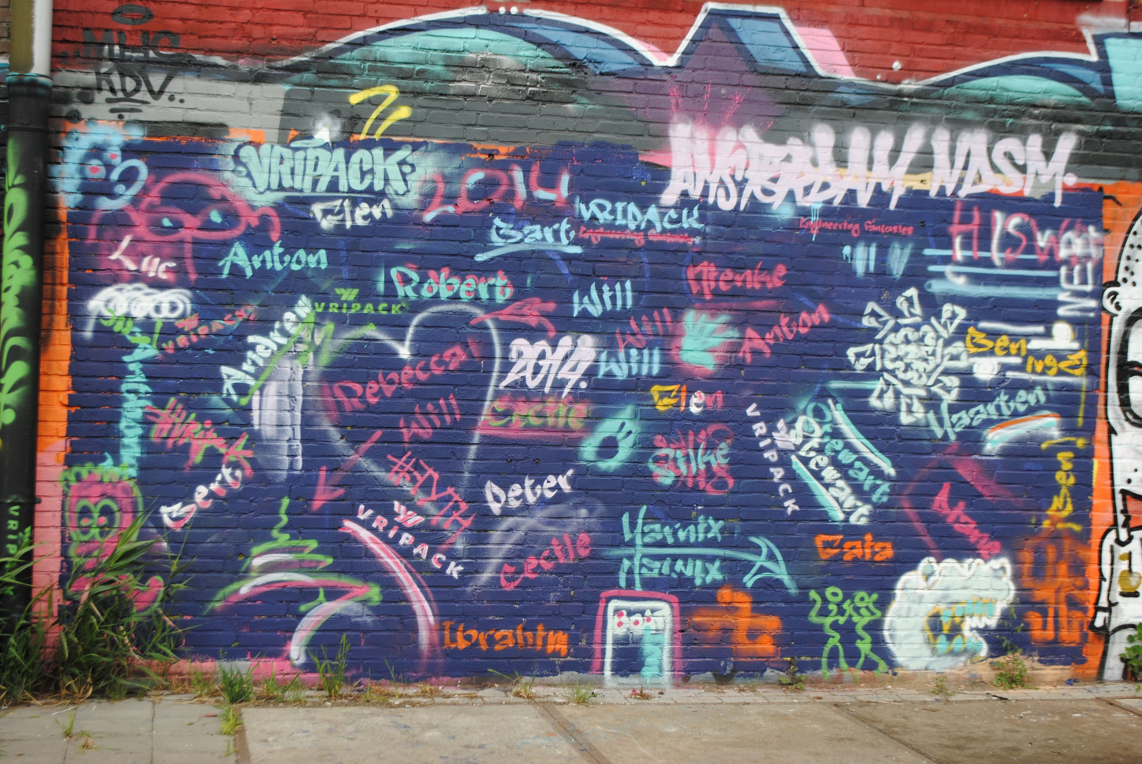 The finished 'HISWA Press Tour' Street Art Masterpiece!