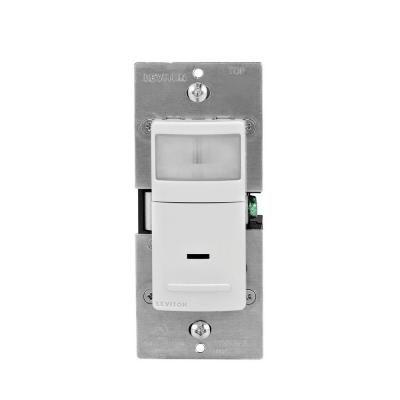 Leviton Decora Motion Sensor In Wall Switch Auto On 2 5 A Single Pole White R12 Ips02 1lw Leviton Motion Sensor Lights Motion Sensor
