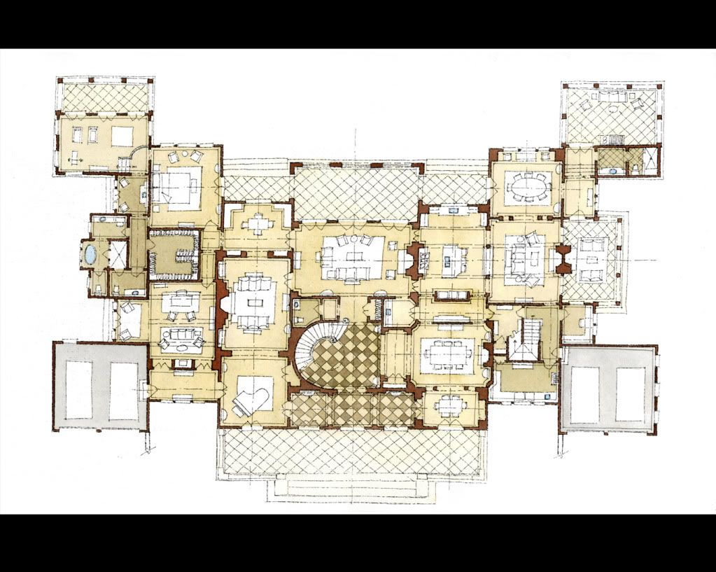 Stephen Fuller Designs Anglo Palladian Villa Drawings Architectural Floor Plans Courtyard House Plans House Design