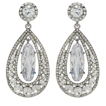 David Tutera Madison Bridal Earrings Bridal Jewellery Crystal