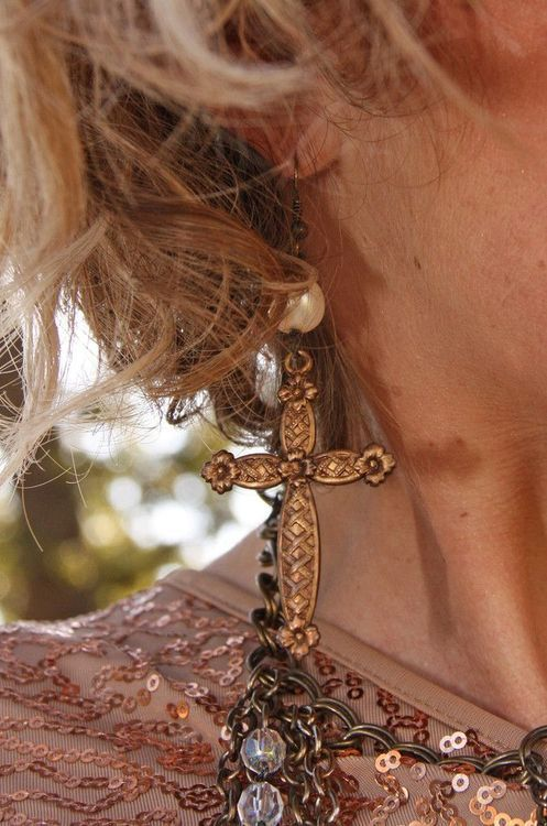 Antique gold + pearls.