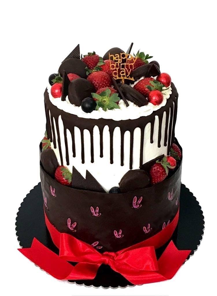 Strawberry and chocolate cake Chocolate, Cake, Desserts