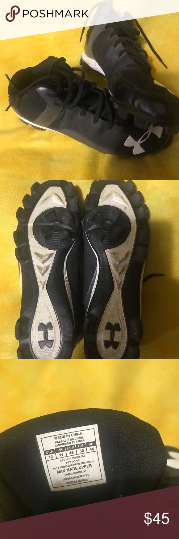 2df2a42cf I just added this listing on Poshmark  Under armor baseball cleats.   shopmycloset  poshmark  fashion  shopping  style  forsale  Other