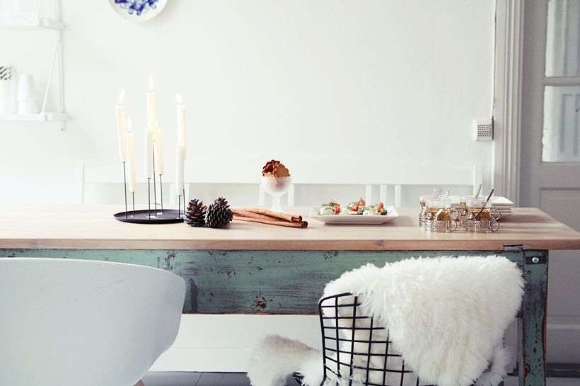 | Get Together With Vaasan. Another Scandinavian-feel dining table spread.