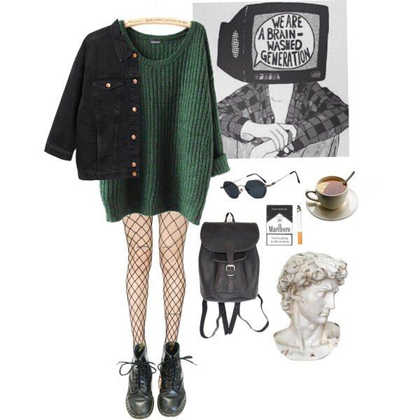 "Photo of Alternative outfits on Instagram: ""#fashion#style#grungetumblr#grunge#softgrunge#hipster#hippie#urban#goth#gothic#ootd#punk#outfit#alternative#style#clothes#trend#band#acdc#pale#denim#ripped#drmartens#creepers#overalls#streetstyle#pale#pastel#styling#inspirational"""